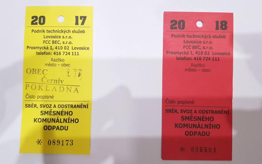 Lístky pro komunální odpad